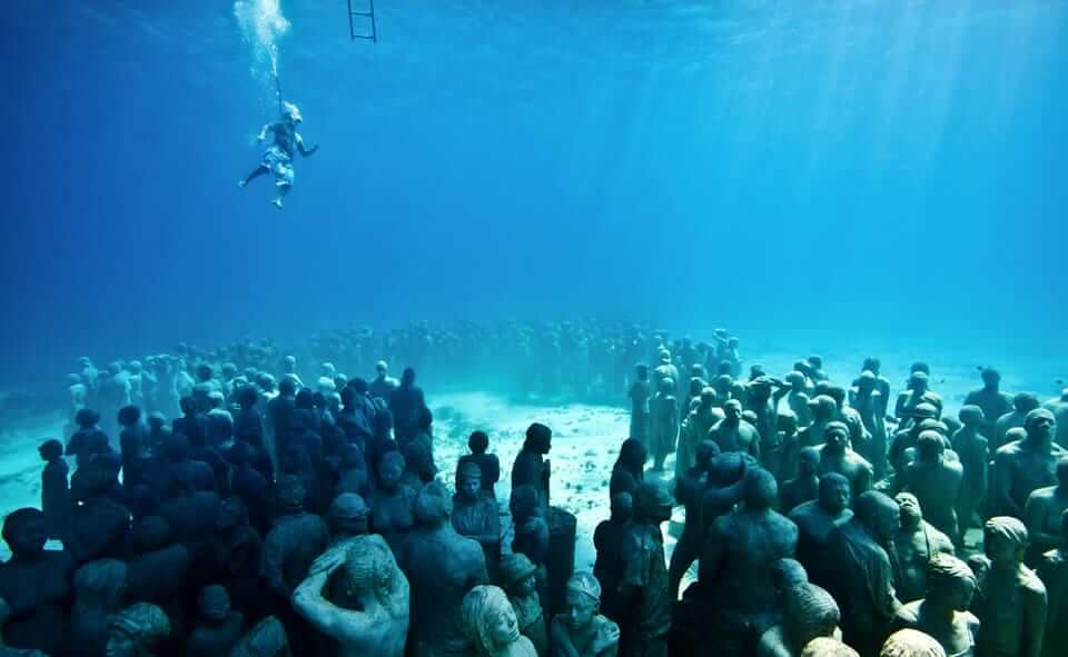 Museu Subaquático de Arte no inverno em Cancún