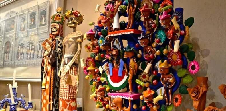 Artefatos no Museu de Arte Popular em Cancún