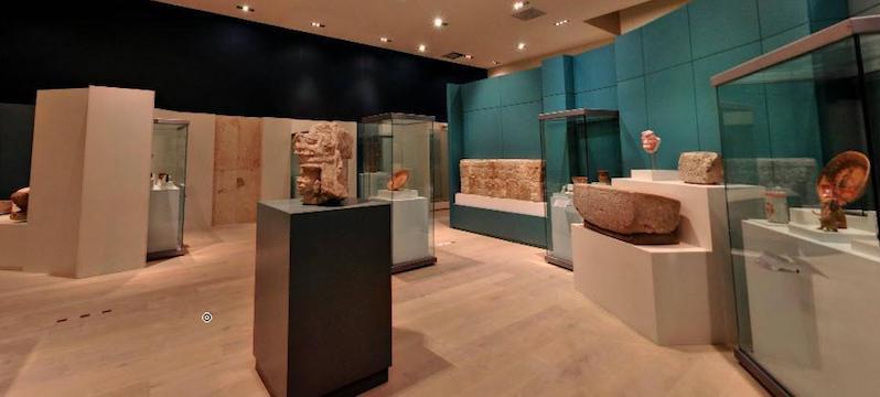 Artefatos do Museu Maya em Cancún