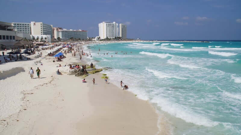Praia Chac Mool em Cancún
